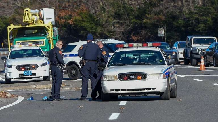 Police investigate Tuesday on Nicolls Road after Noah