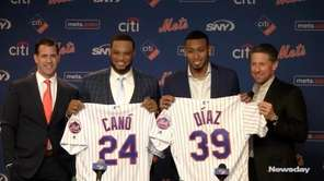 The Mets intruduced Robinson Cano and Edwin Diaz