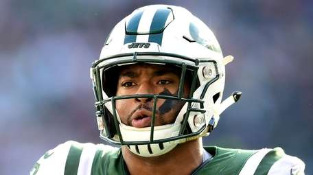 Jets safety Jamal Adams reacts against the Patriots