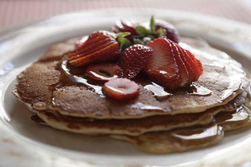 Jojo Apple's, in Point Lookout, serves strawberry pancakes.