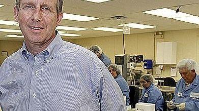Lawrence Siebert, president Chembio Diagnostics of Medford. (September