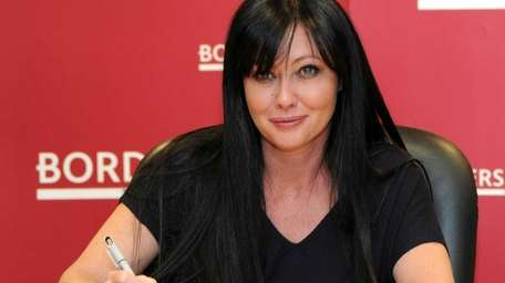 Actress Shannen Doherty promotes
