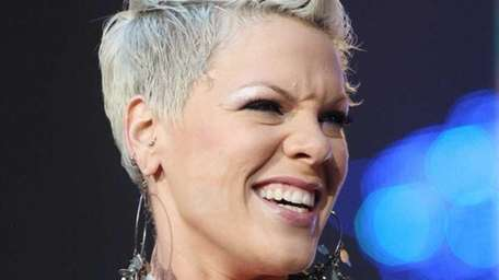 US singer Pink performs on stage during