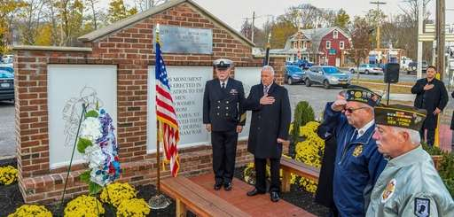The St. James War Memorial was rededicated on