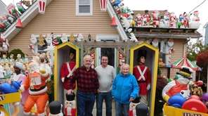This year Merrick family, from left -- dad