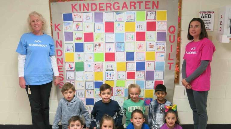 Kindergartners at Mills Pond Elementary School in St.