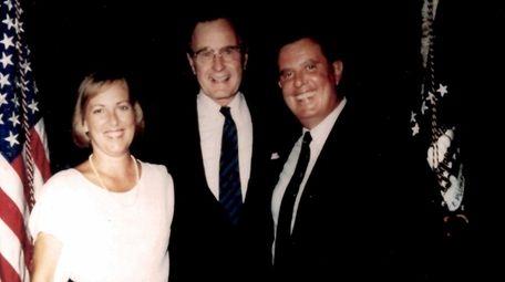 Joseph and Linda Mondello with George H.W. Bush