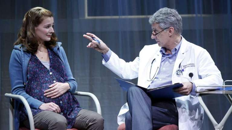 Heather Burns, left, and David Garrison in Will
