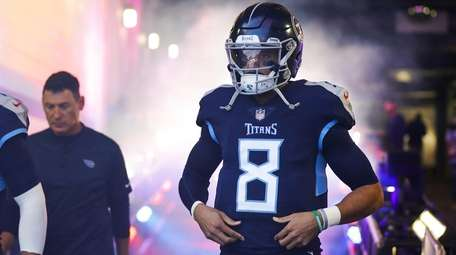 Marcus Mariota of the Tennessee Titans takes the
