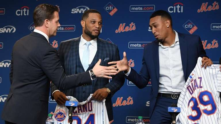 General manager Brodie Van Wagenen welcomes Robinson Cano