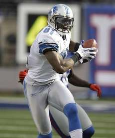 Detroit wide receiver Calvin Johnson could be seeing