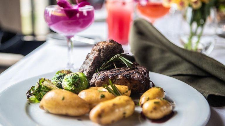 Lamb porterhouse chops as served at OHK Restaurant