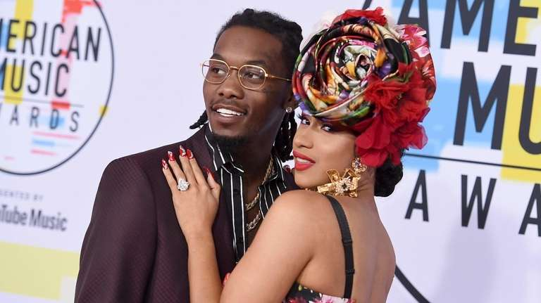 Offset and Cardi B attend the 2018 American