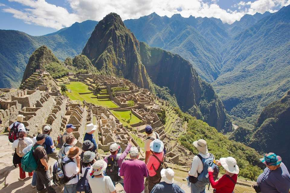 The 15th-century Incan site of Machu Picchu, in
