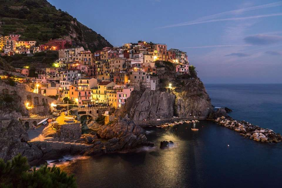 The city of Manarola, one of the daisy
