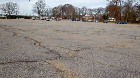 The parking lot at Clinton G. Martin Park