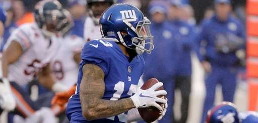 Giants wide receiver Odell Beckham prepares to launch