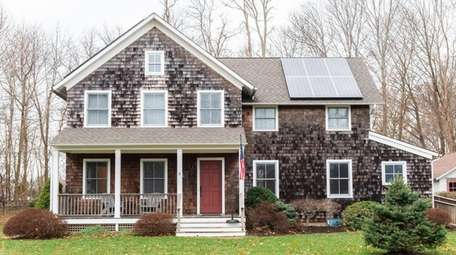 Newly installed solar panels on the roof of