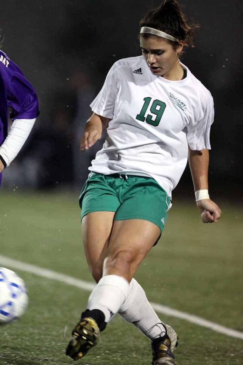 Carle Place's Melissa Duarte moves the ball forward