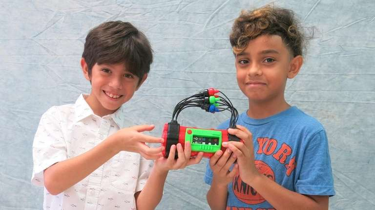 Kidsday reporters Arturo Lopez, left, and Brenden Martinez