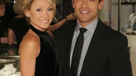 Kelly Ripa and Mark Consuelos attend the launch