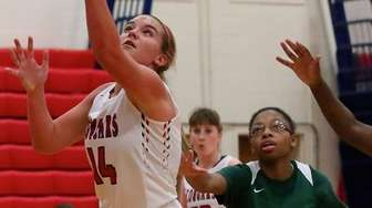 St. John the Baptist forward Julia LaFemina puts