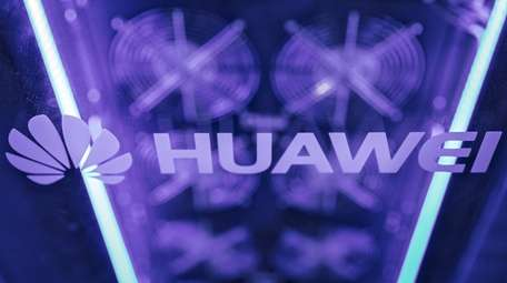 The Huawei Technologies logo at the Huawei Connect