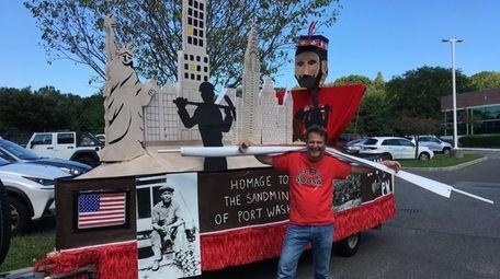 Mathieu Lanfant of Port Washington in front of
