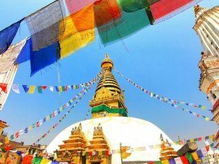 View of Swayambhunath, Kathmandu, Nepal.
