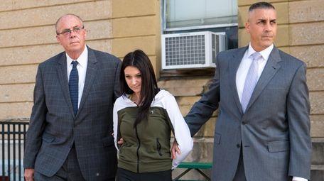 Francesca Kiel in police custody on Nov. 12,