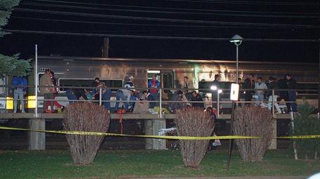 People are treated on the Merillon Avenue LIRR
