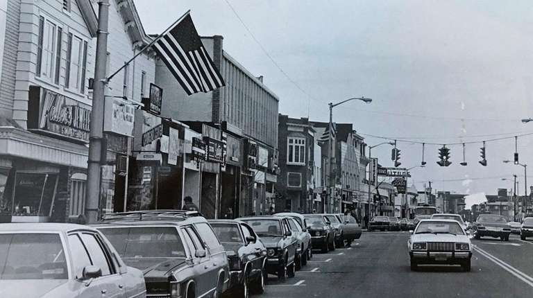 Main Street in Patchogue in 1980, when the