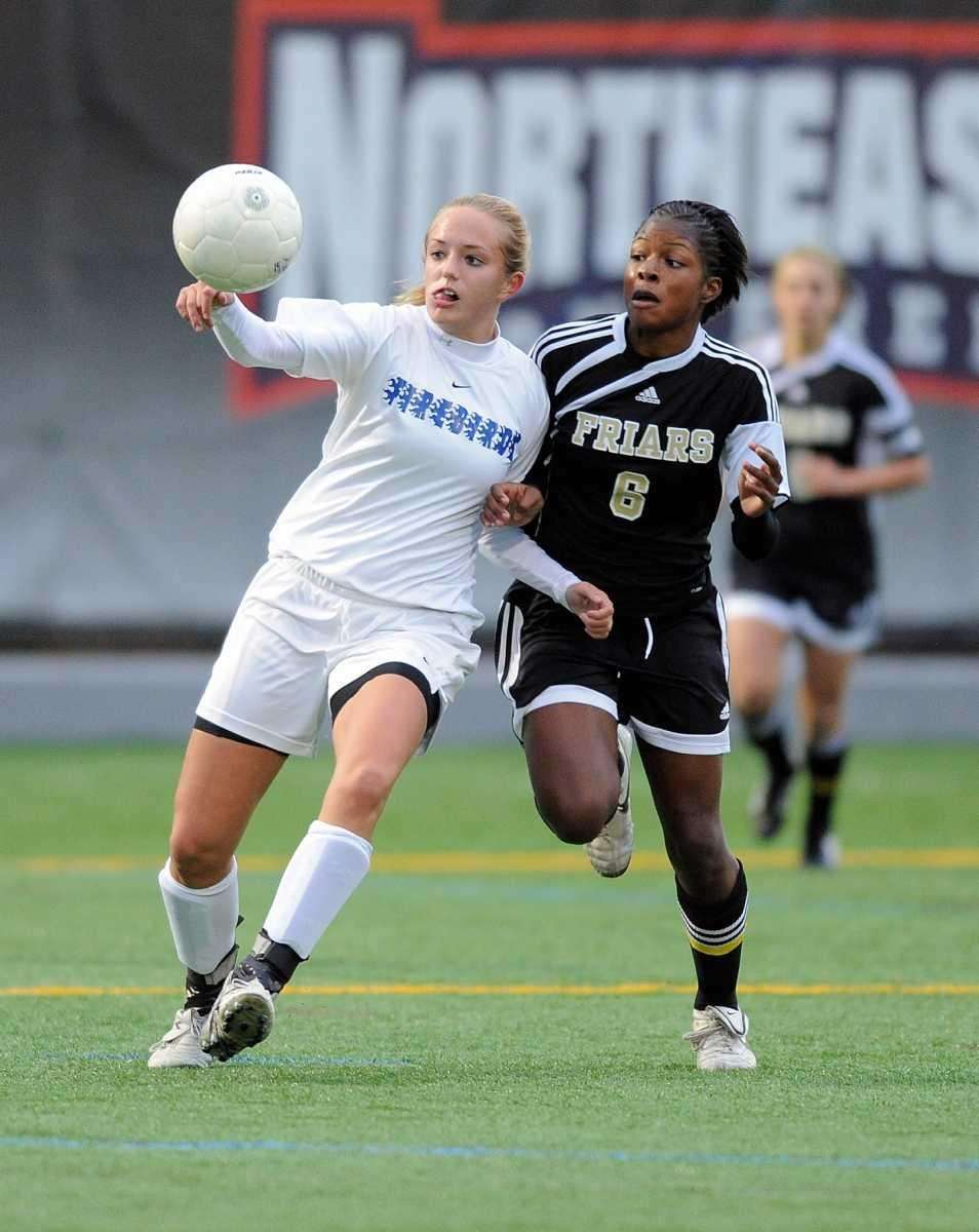 (l-r) Kellenberg's Erica Berry and St Anthony's Ashley