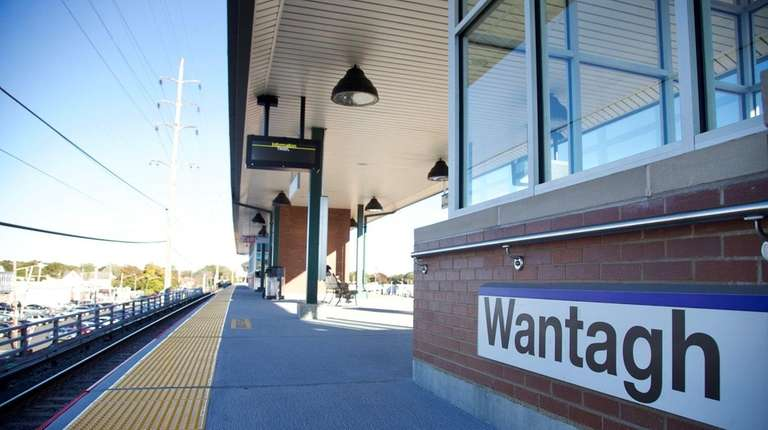 Platform of the recently upgraded LIRR station at