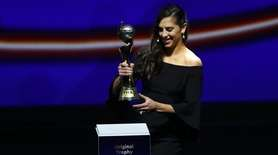 Carli Lloyd of the United States brings the