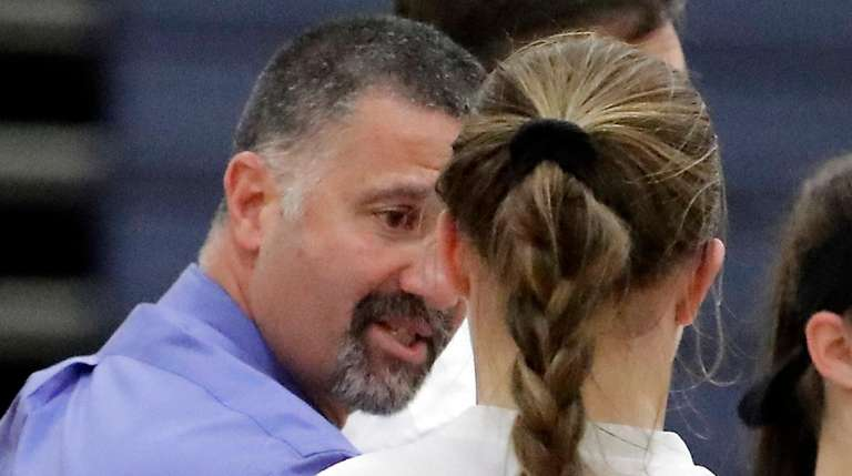 Eastport-South Manor girls varsity head coach Steve Giacolone