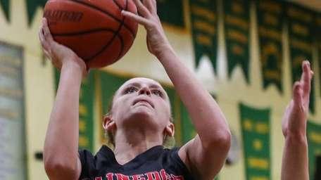 Emily Kluth of Lynbrook can not stop the