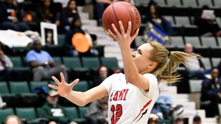 Long Island Lutheran's Celeste Taylor (12) scores against