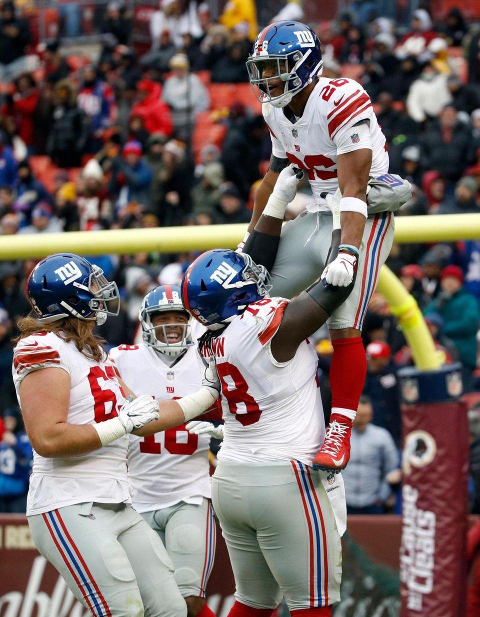 New York Giants running back Saquon Barkley (26)