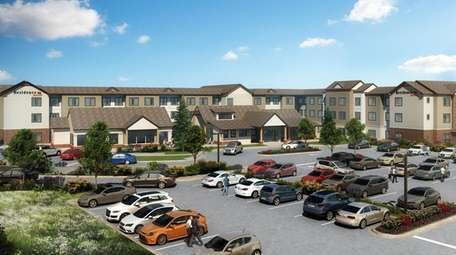 The proposed three-story Marriot Residence Inn in Jericho,
