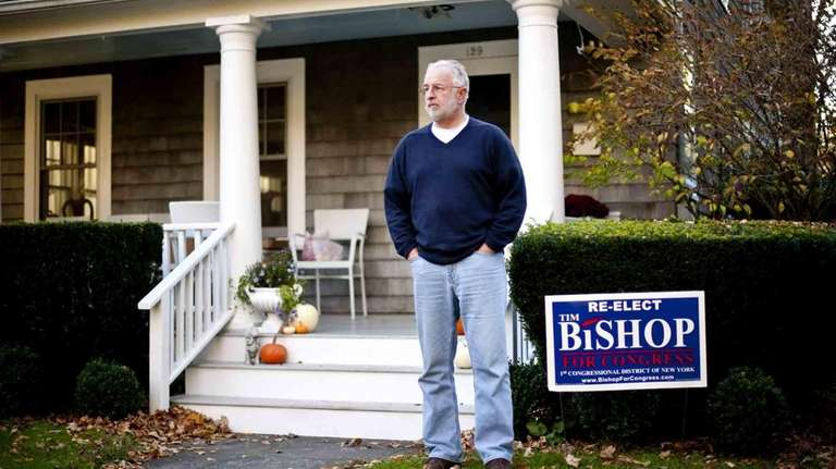 Congressman Tim Bishop, the day after election night,