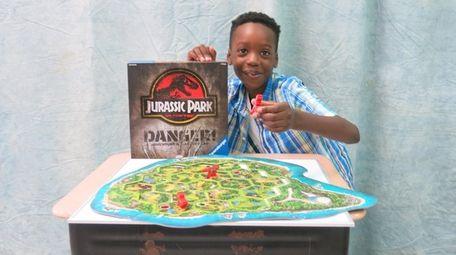 Kidsday reporter Omarion Gentles tested the Jurassic Park