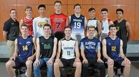 Members of Newsday's 2018 All-Long Island boys volleyball