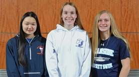 Members of Newsday's 2018 All-Long Island girls swimming