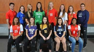 Members of Newsday's 2018 All-Long Island girls soccer