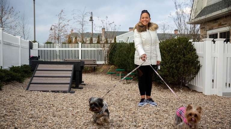 Nicole Scrofani and her two dogs at Greybarn