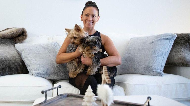 Nicole Scrofani at her apartment inside Amityville's Greybarn.