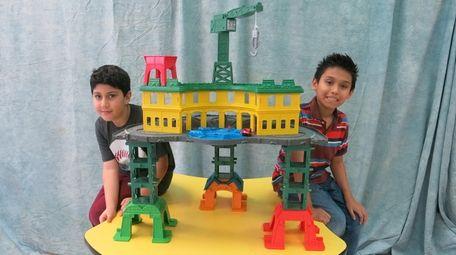 Kidsday reporters Muzammil Fayaz, left, and Robert Marca