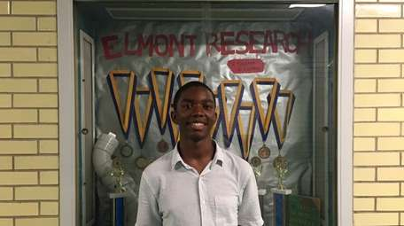 Michael Lawes, a senior at Elmont Memorial High
