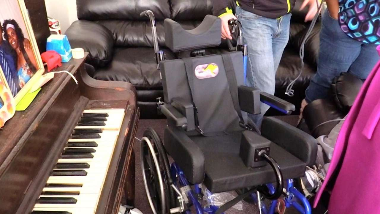 H & J Medical Supplies donated a wheelchair